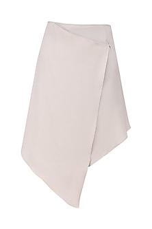 Nude Wrap Skirt by Priyanka Gangwal