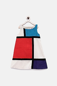Multi Colored Dress With Stripes by Pink Cow