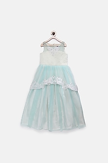 Blue Gown With Pearl Detailing by Pink Cow