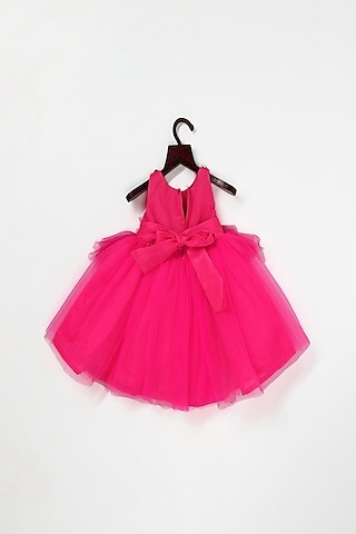 Pink Embellished Layered Dress by Pink Cow