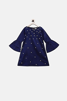 Navy Blue Pearl Dress by Pink Cow