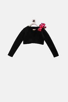 Black Shrug With Pink Bow by Pink Cow