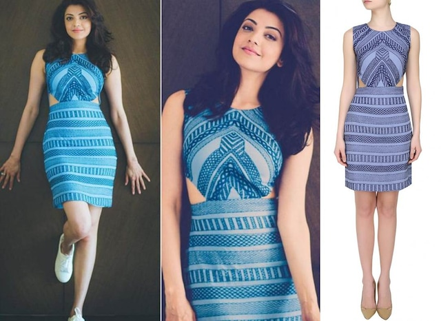 Blue Thread Embroidered Cut Out Dress by Samatvam By Anjali Bhaskar