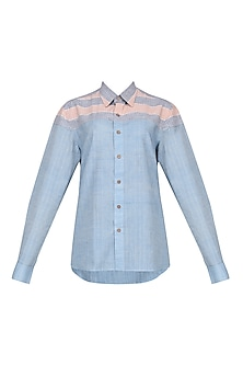 Blue Yoke Shirt by Pika Love