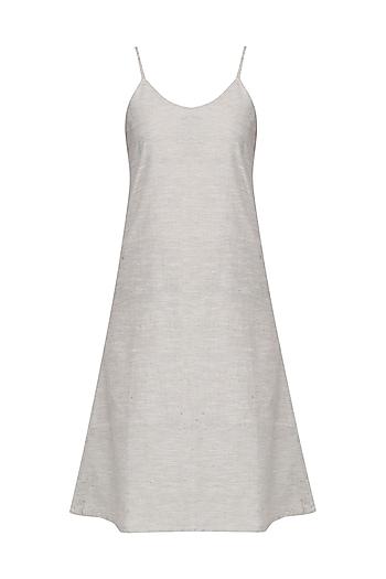 Grey Slip Dress by Pika Love