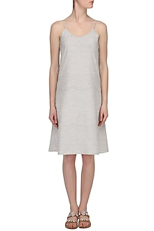 Grey Slip Dress by Pika Love