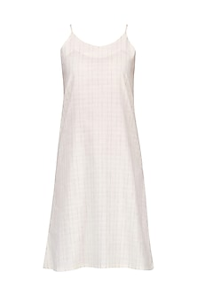 White Linen Slip Dress by Pika Love