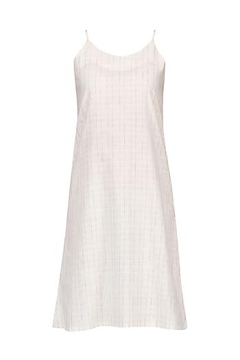 White Linen Slip Dress by Pika Love