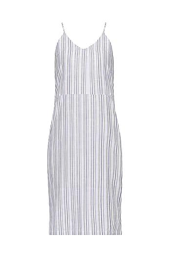 White Stripped Slip Dress by Pika Love