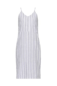 White Stripped Slip Dress by Pika Love