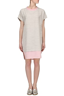 Grey and Pink High Low Tunic by Pika Love