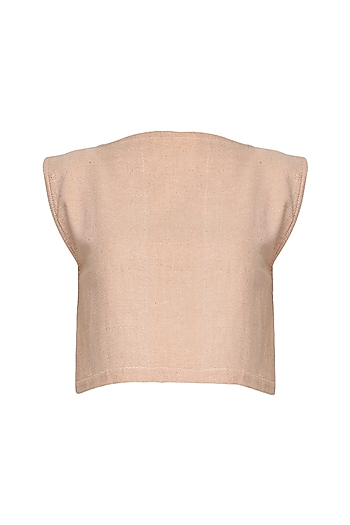 Pink Slit Crop Top by Pika Love