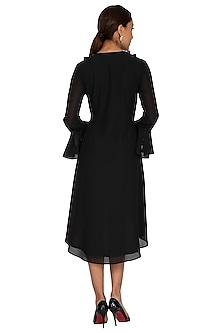 Black Embroidered Tunic Dress by Prerana Nagpal