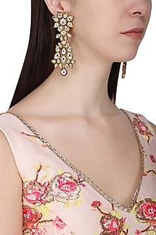 Gold Plated Kundan Earrings by Polki Box