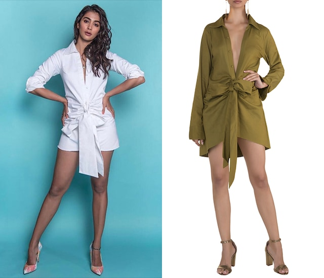 Olive Green Shirt Dress by Deme by Gabriella