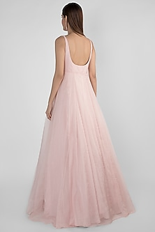 Dusted Pink Embroidered Gown by Pink Peacock Couture