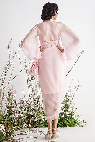 Rose Pink Tunic Set by Pink Peacock Couture
