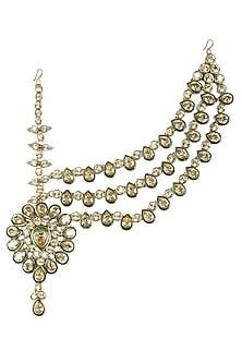 Gold Plated Mughal Half Matha Patti by Purab Paschim by Ankit Khullar