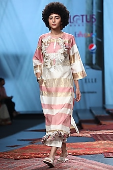 Multi Colored Embroidered Kurta With Pants & Inner by Prama by Pratima Pandey