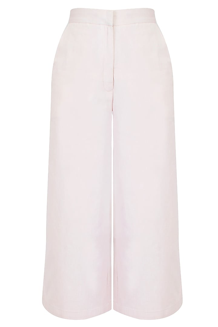 Beige Flared Culotte Pants by The Pot Plant