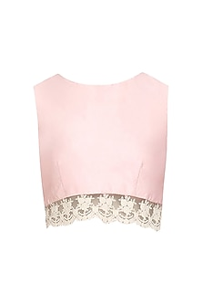 Pale Pink Crop Top by Pernia Qureshi