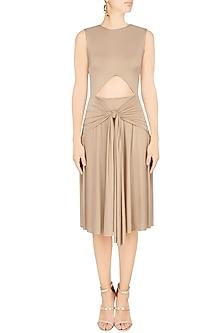 Sand Cutout Dress by Pernia Qureshi