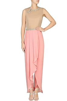 Sand and Summer Rose Jumpsuit by Pernia Qureshi