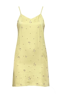 Pale Olive Slip Dress by Pernia Qureshi