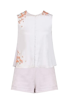 Pale Lilac Top Set by Pernia Qureshi