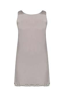 Fog Grey Short Dress by Pernia Qureshi