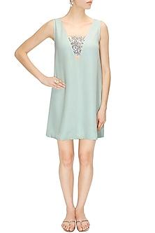 Sea Foam Mini Dress by Pernia Qureshi