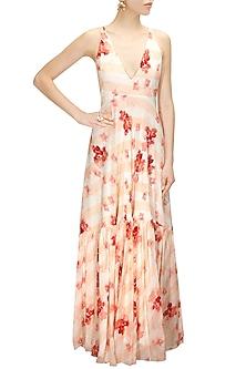 Floral Printed Maxi Dress by Pernia Qureshi