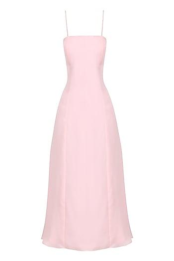 Pink strappy midi dress by PERNIA QURESHI
