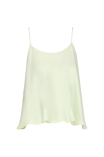 Mint Green Thin Strap Top by Pernia Qureshi