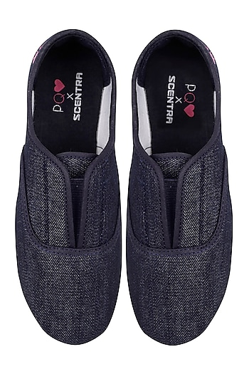 Denim Slip On Shoes by Pernia Qureshi x Scentra