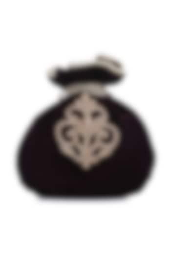Black Embroidered Polti by Praccessorii