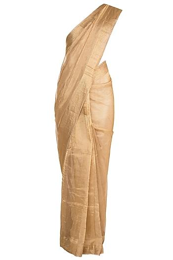 Golden Metallic Saree by Pranay Baidya