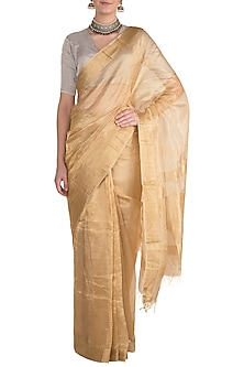 Golden Metallic Saree by Pranay Baidya