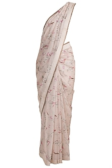 Pink Printed Saree by Pranay Baidya
