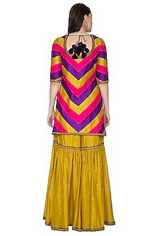 Multi Colored Embroidered Sharara set by Priyal Prakash