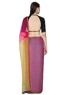Multi Colored Embroidered Saree Set by Priyal Prakash