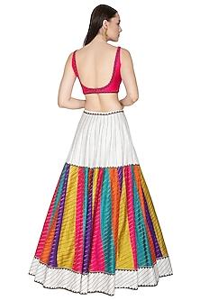 Multi Colored Lehenga Set With Aari Embroidery by Priyal Prakash