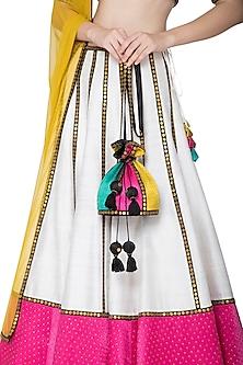 Multi Colored Embroidered Potli Bag by Priyal Prakash