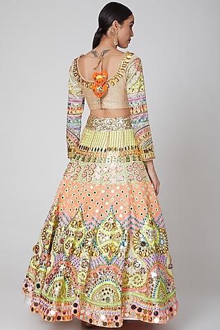 Beige Sequins Embroidered Lehenga Set by Param Sahib