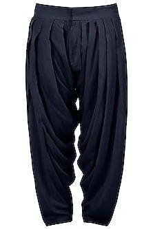 Blue patiala pants by Pranay Baidya Men