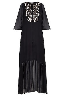 Black embroidered tunic by Priyam Narayan