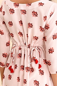 Pink Printed Dhoti Jumpsuit by Pasha
