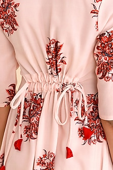 Pink Printed Moss Rayon Jumpsuit by Pasha