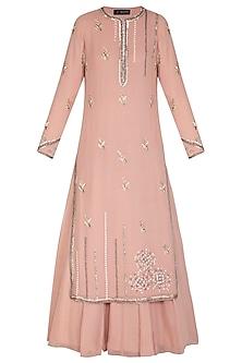Blush Pink Embroidered Lehenga Set by Priyanka Singh