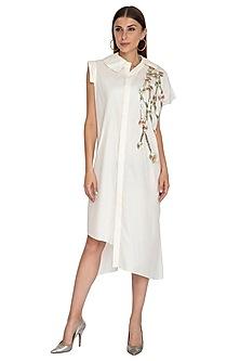 White Embellished Dress by Priyanka Singh